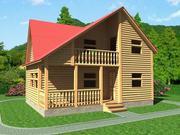 Продам недорого сруб Дома-Бани 8х6 м с установкой в Молодечно.